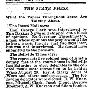 The State Press-What the Papers Throughout the State Are Talking About.